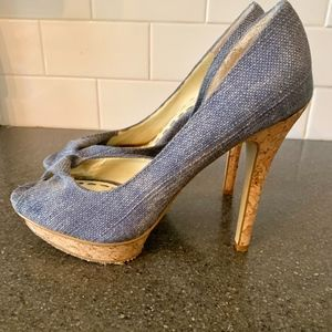 Enzo Angiolini Denim Sandals